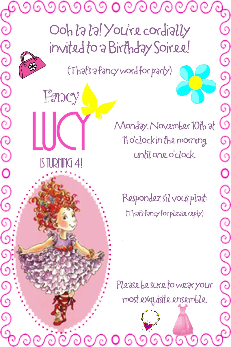 How to throw a Spectacular, Fabulous Fancy Nancy Birthday Party ...